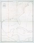 Skeleton map showing the rail roads completed and in progress in the United States and their connection as proposed with the harbor of Pensacola : and its relative position to the various important ports on the Gulf of Mexico, the Atlantic Coast, and in the West Indies