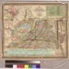 The tourist's pocket map of the state of Virginia : exhibiting its internal improvements, roads, distances, &c.