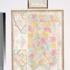 The tourist's pocket map of Pennsylvania : exhibiting its internal improvements, roads, distances &c.