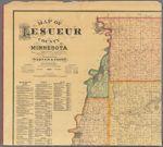 Map of LeSueur County, Minnesota